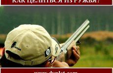 Как целиться из ружья? Рекомендации от стрелка